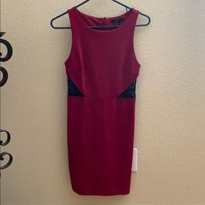Small forever 21 red w/ black lace on sides dress